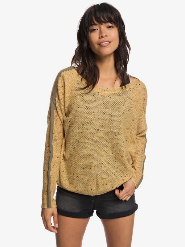 0 One Day Down Sweater Yellow ERJSW03272 Roxy