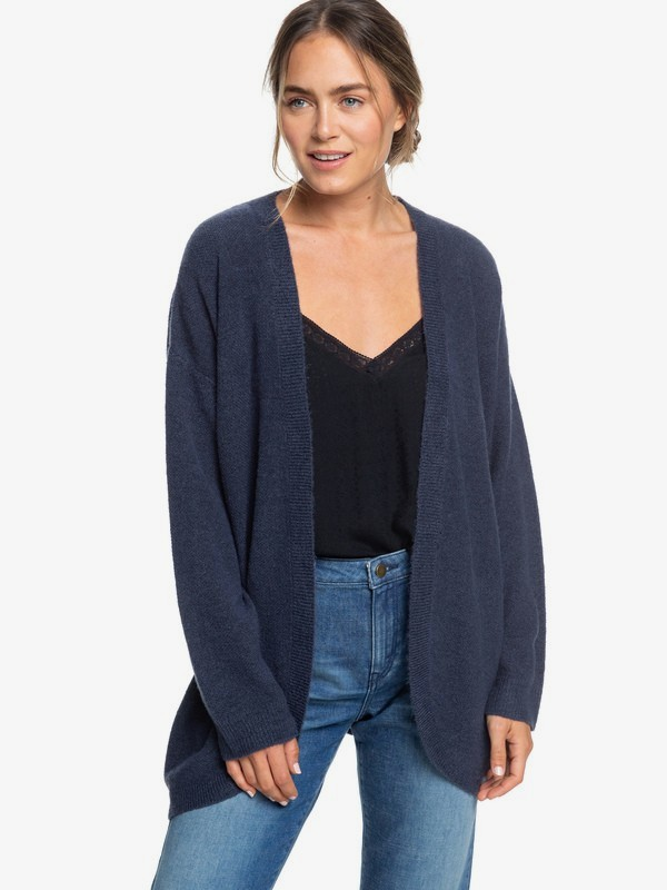 0 Delicate Mind Drop Shoulder Cardigan Blue ERJSW03325 Roxy