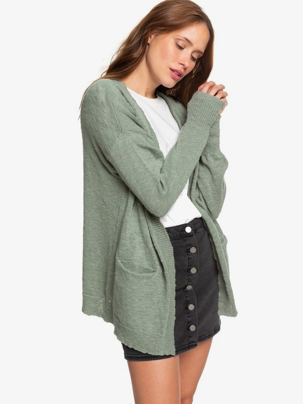0 Valley Shades Cardigan Green ERJSW03330 Roxy