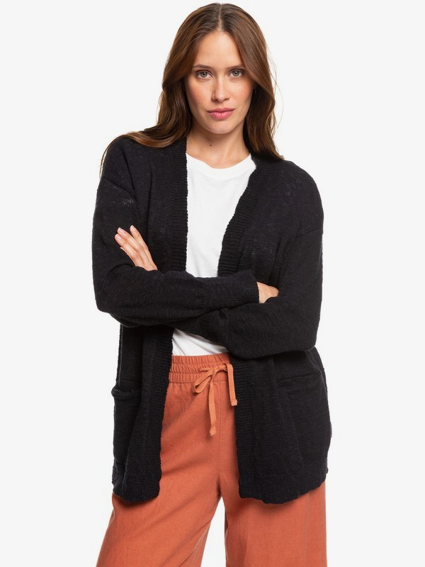 0 Valley Shades Cardigan Black ERJSW03330 Roxy