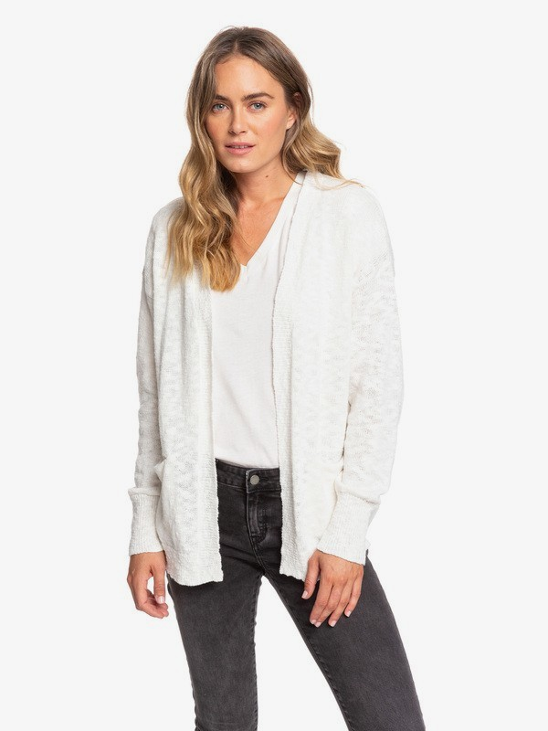 0 Valley Shades Cardigan White ERJSW03330 Roxy