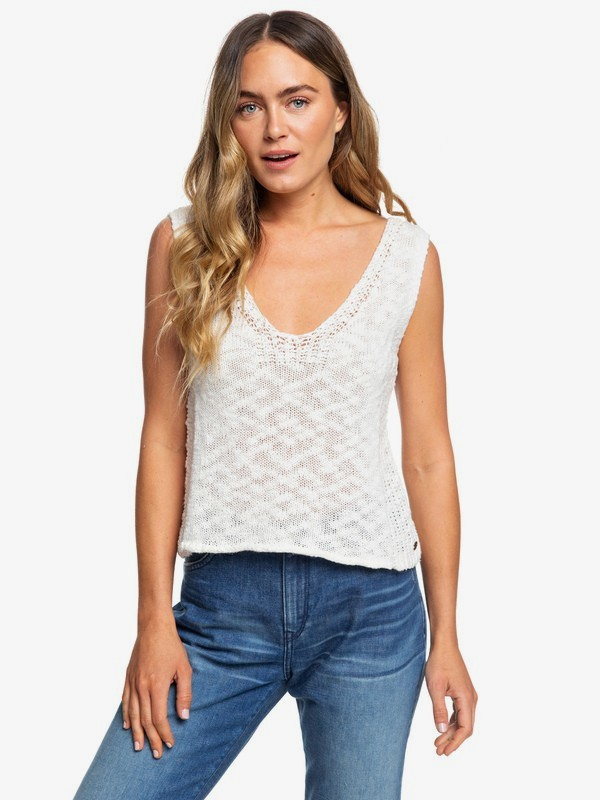 Blooming Season - Knitted Vest Top for Women  ERJSW03342