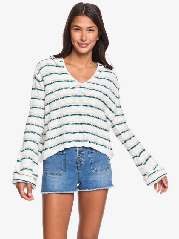 0 Sun Express Hooded Sweater Blue ERJSW03365 Roxy