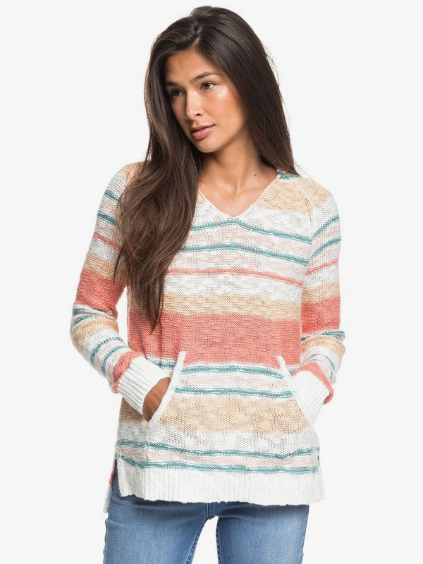 Airport Vibes - Hooded Poncho Jumper for Women  ERJSW03384