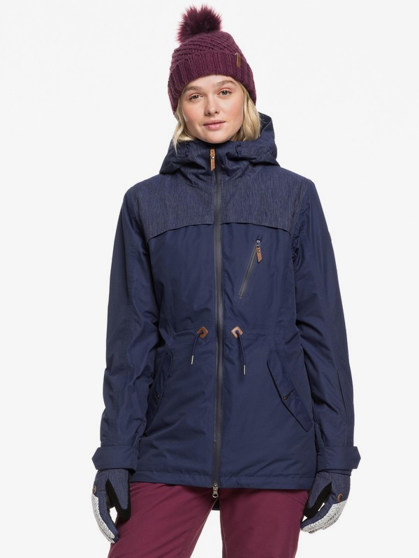 0 Stated Snow Jacket Blue ERJTJ03225 Roxy