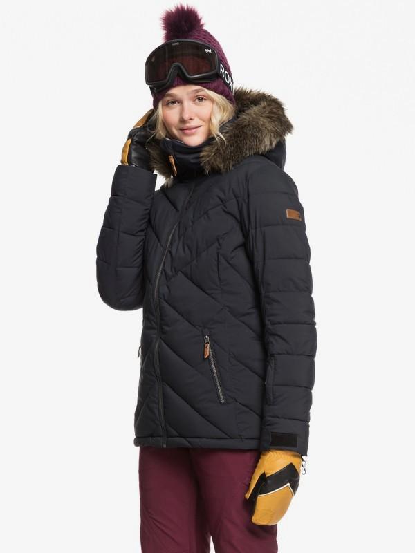 0 Quinn - Chaqueta para Nieve para Mujer Negro ERJTJ03227 Roxy