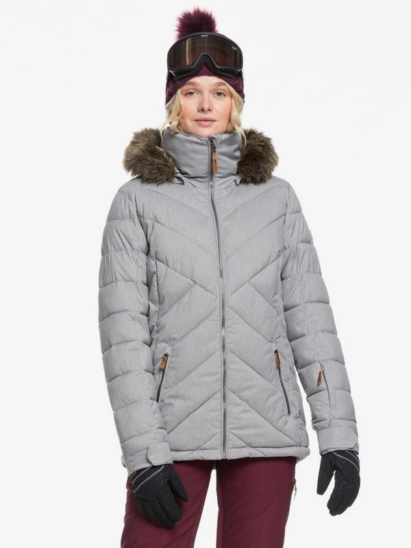 0 Quinn Snow Jacket Grey ERJTJ03227 Roxy