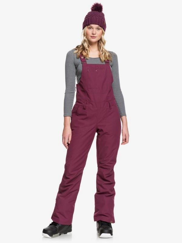 0 Rideout - Snow Bib Pants for Women Purple ERJTP03084 Roxy