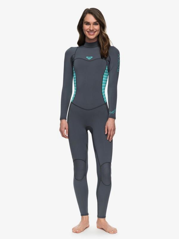 0 3/2mm Syncro Series Back Zip Wetsuit Blue ERJW103023 Roxy