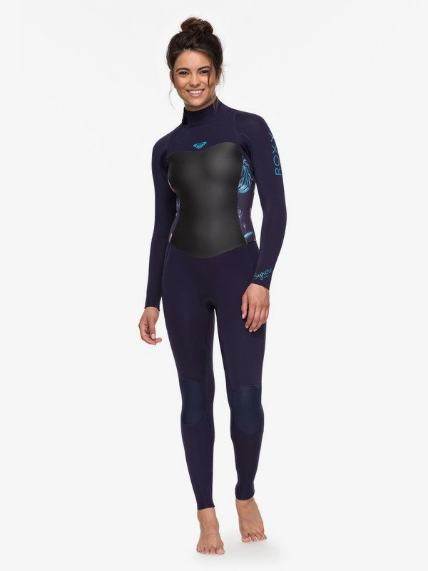 0 4/3mm Syncro Series Back Zip GBS Wetsuit Blue ERJW103027 Roxy