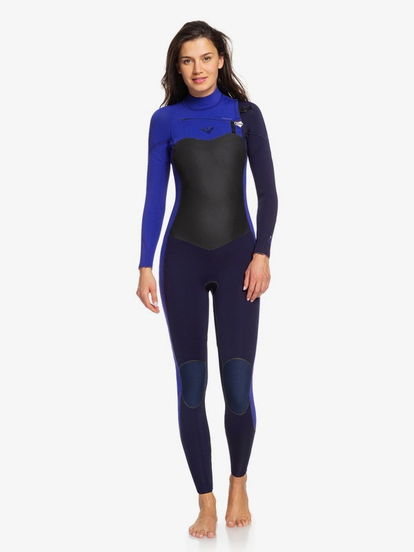 0 4/3mm Performance Chest Zip Wetsuit Blue ERJW103032 Roxy