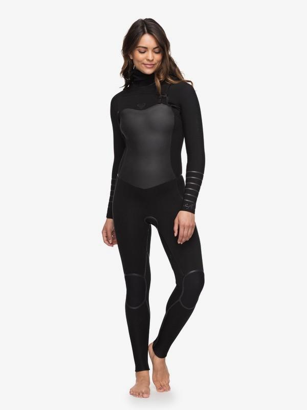 0 5/4/3mm Syncro Plus - Traje de surf con cremallera en el pecho y capucha para Mujer Negro ERJW203002 Roxy