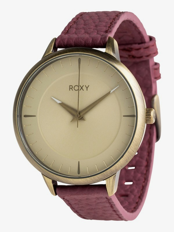 0 Avenue Leather - Analogue Watch for Women Yellow ERJWA03012 Roxy