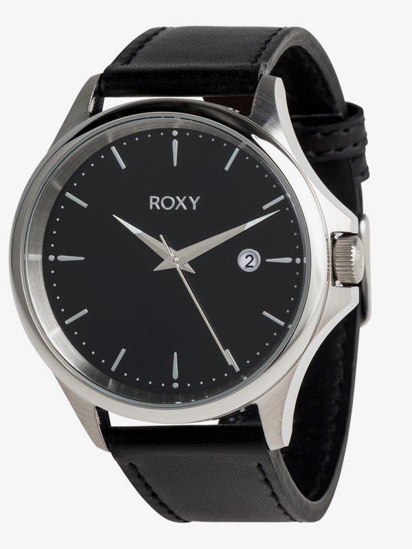 0 Messenger Leather - Analogue Watch for Women Grey ERJWA03022 Roxy