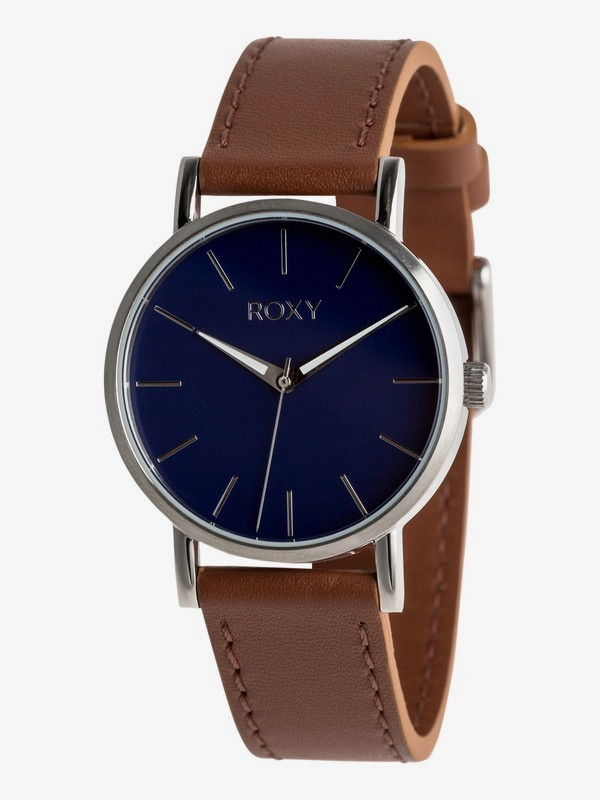 0 Maya S Leather - Analogue Watch for Women Grey ERJWA03027 Roxy