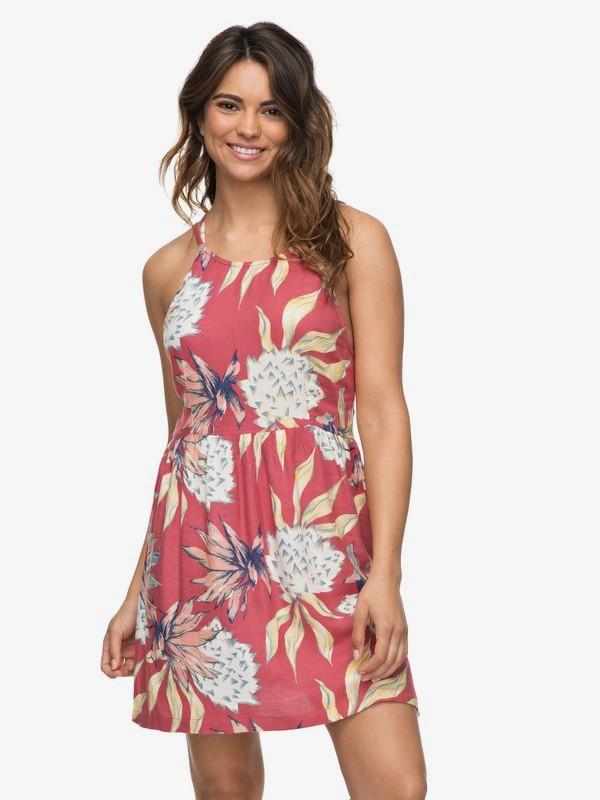 0 Antelope Curves Strappy Dress Pink ERJWD03222 Roxy