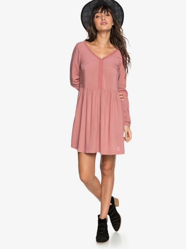 0 Feel Alone - Robe à manches longues pour Femme Rose ERJWD03247 Roxy