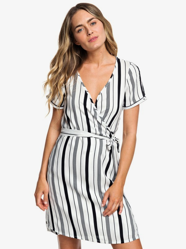 Monument View - Short Sleeve Wrap Dress  ERJWD03249