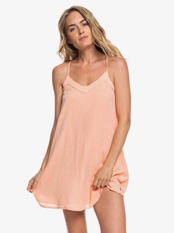 0 Off We Go Strappy Dress Pink ERJWD03294 Roxy