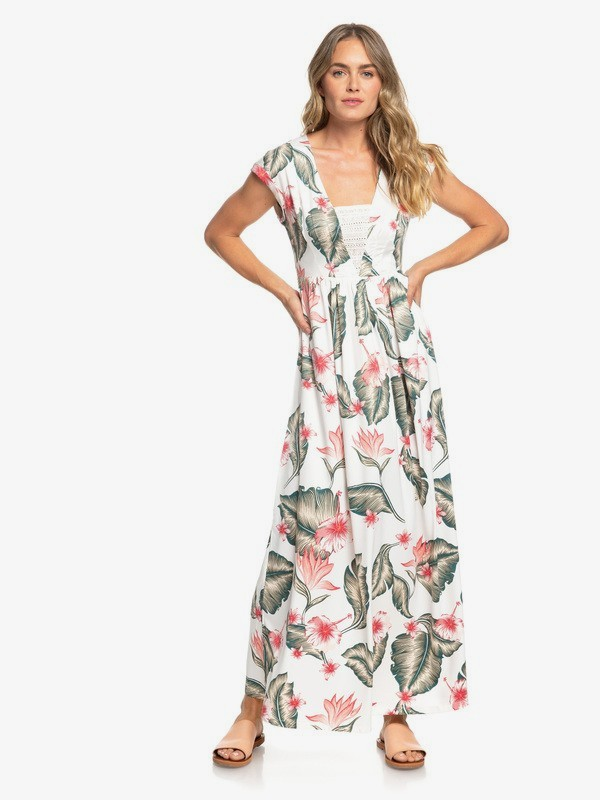 0 A Day At Tribeca - Vestido Largo sin Mangas para Mujer Blanco ERJWD03306 Roxy