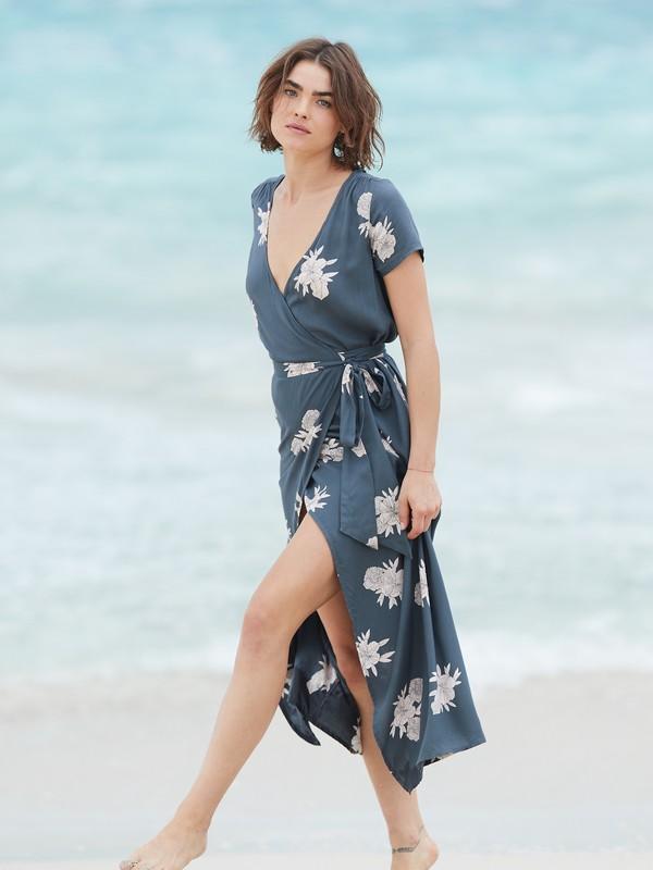 District Day - Short Sleeve Maxi Dress for Women  ERJWD03317