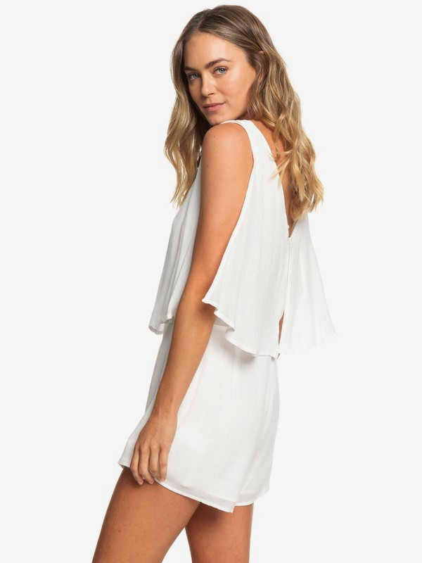 0 Festi Face Sleeveless Layered Romper White ERJWD03331 Roxy