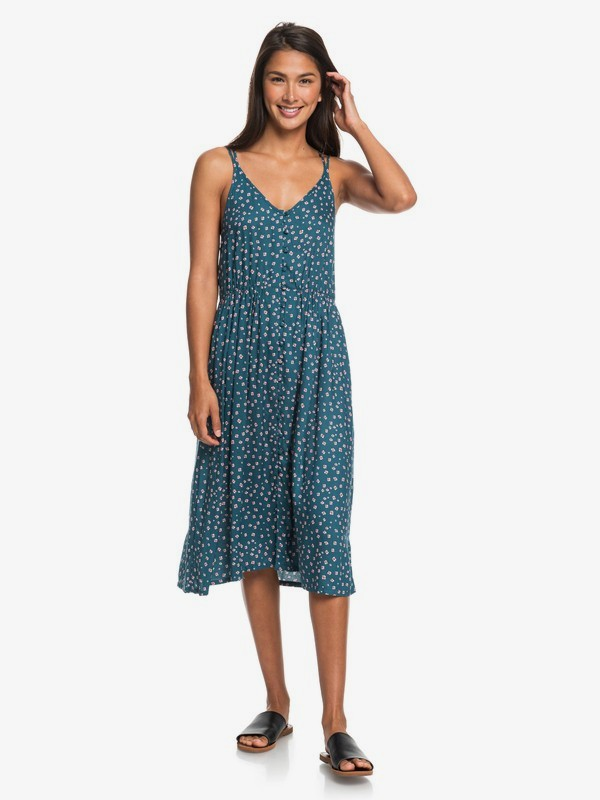 My Way To Coast - Strappy Midi Wrap Dress for Women  ERJWD03355