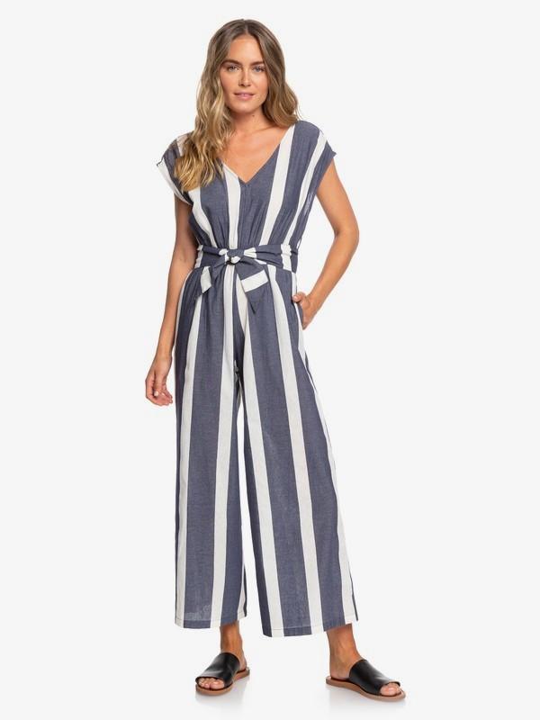0 Same Old Blues Sleeveless Wide Leg Jumpsuit Blue ERJWD03403 Roxy