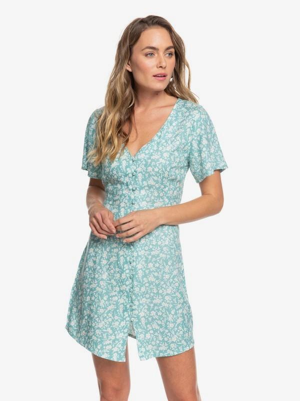 Damage Love - Short Sleeve Buttoned Dress for Women  ERJWD03415