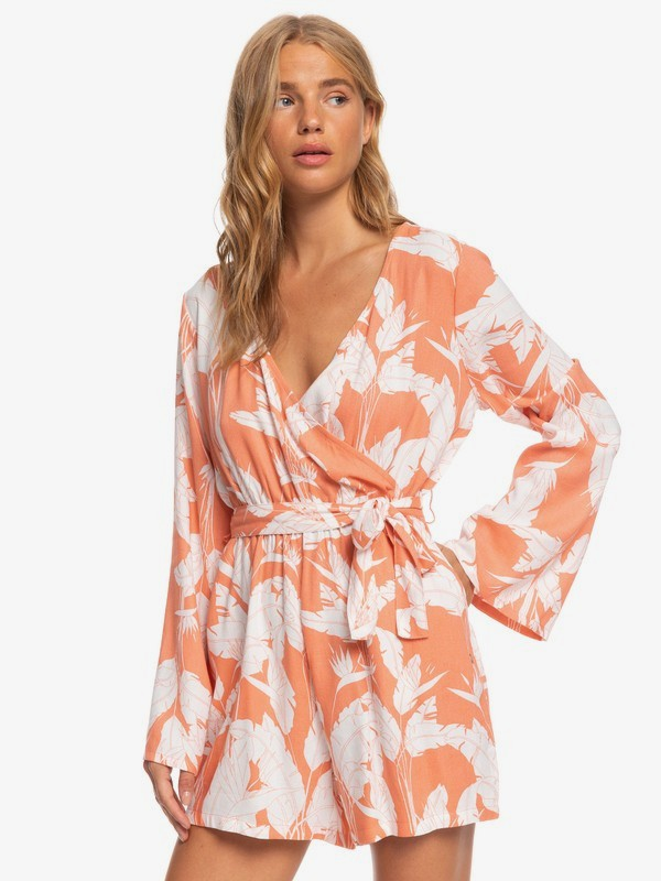 New Morning Air - Long Sleeve Wrap Playsuit for Women  ERJWD03442