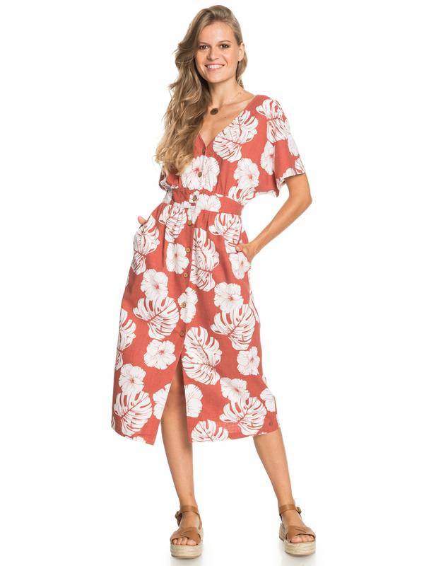 Sunny Memories - Midi Length Short Sleeve Dress for Women  ERJWD03562