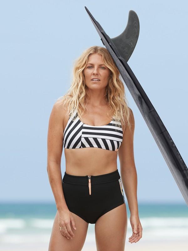 0 1mm POP Surf - Neopren-Shorts mit Hohem Bund für Frauen Schwarz ERJWH03019 Roxy