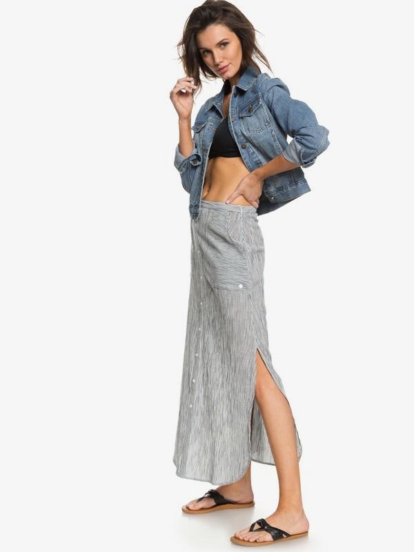0 Sunset Islands - Jupe longue pour Femme Blanc ERJWK03036 Roxy