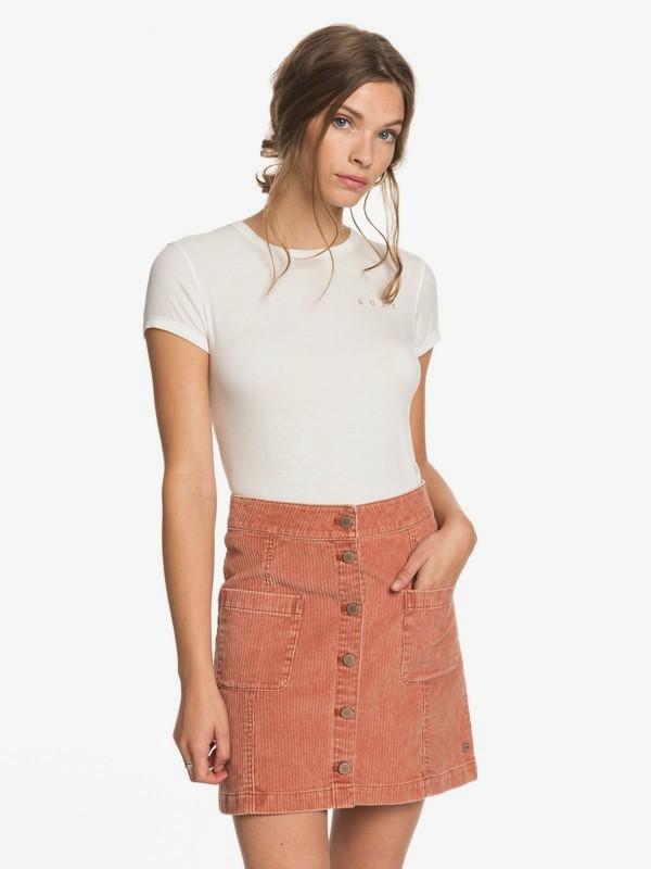 Warning Sign - Buttoned Corduroy Skirt for Women  ERJWK03090