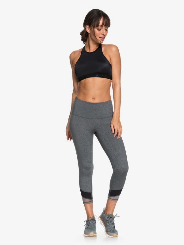 0 Mad About You Capri Yoga Leggings Black ERJWP03019 Roxy