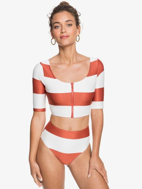 Kelia - Short Sleeve UPF 50 Cropped Rash Vest for Women  ERJWR03388