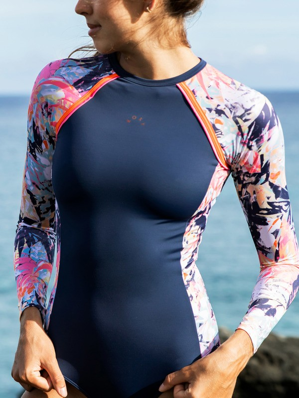 ROXY Fitness - Long Sleeve UPF 50 One-Piece Swimsuit for Women  ERJWR03480