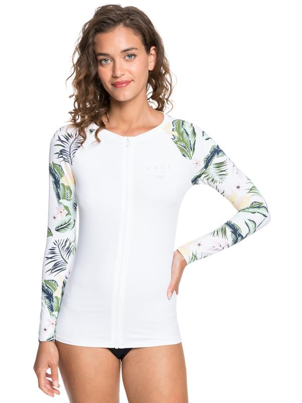 ROXY Bloom - Long Sleeve UPF 50 Zipped Rash Vest for Women  ERJWR03497