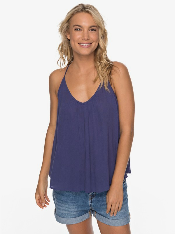 Local In The Sky - Strappy Viscose Top for Women  ERJWT03193