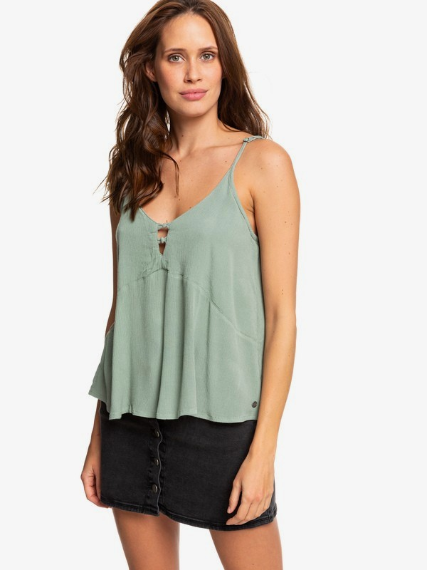 0 Shifting Sky Cami Top Green ERJWT03225 Roxy