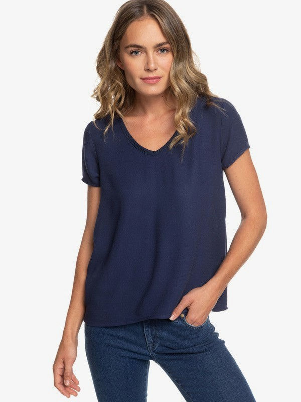 0 Bratan Sunset Short Sleeve Top Blue ERJWT03270 Roxy