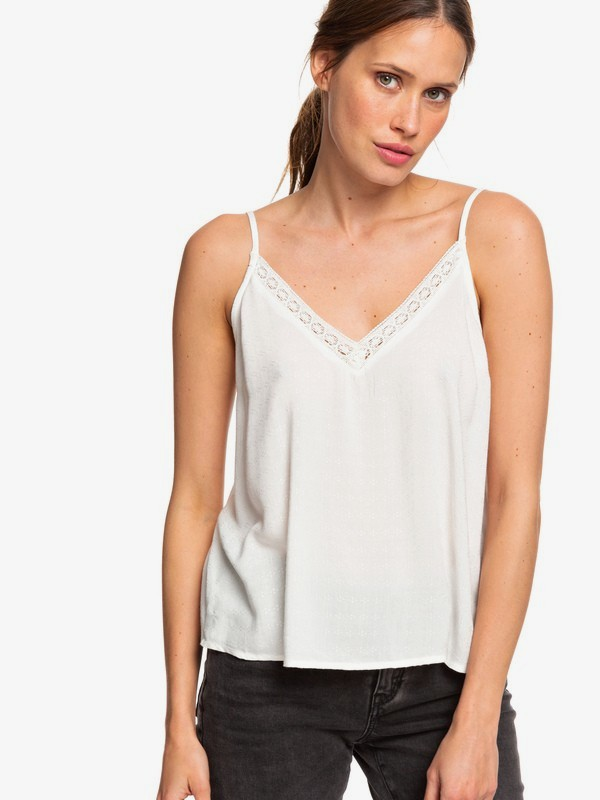 0 Positano Chill Strappy Top White ERJWT03337 Roxy