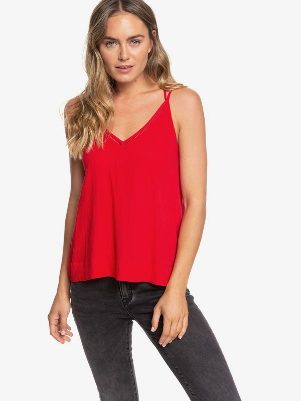 0 Evening Sand Strappy Top Red ERJWT03351 Roxy