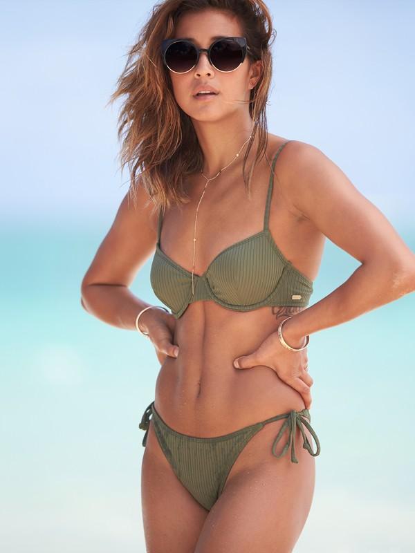 0 Goldy Sandy Bra Bikini Top Brown ERJX303750 Roxy