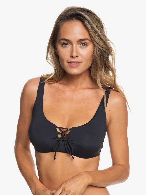 0 Softly Love D-Cup Bra Bikini Top Black ERJX303823 Roxy