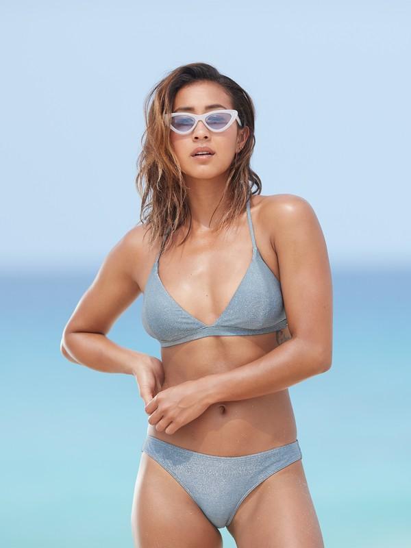0 Color My Life - Haut de bikini triangle fixe pour Femme Bleu ERJX303857 Roxy