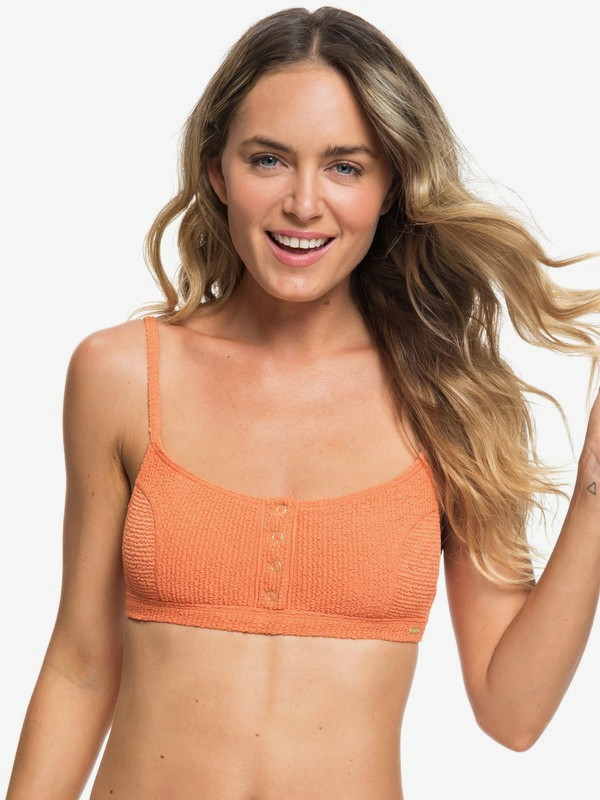 0 Sun Memory Bralette Bikini Top Orange ERJX303923 Roxy