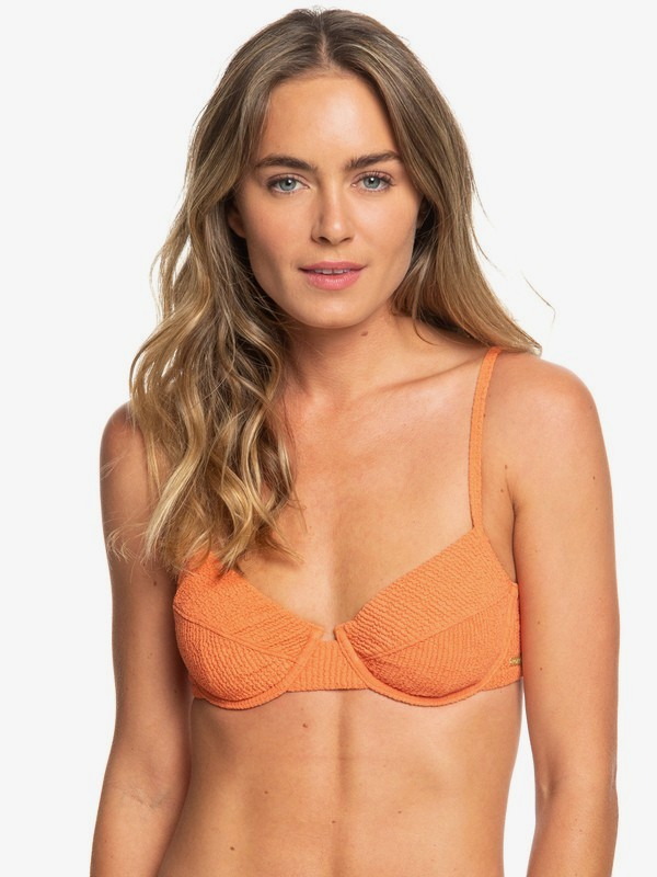0 Sun Memory Underwired Bra Bikini Top Orange ERJX303924 Roxy
