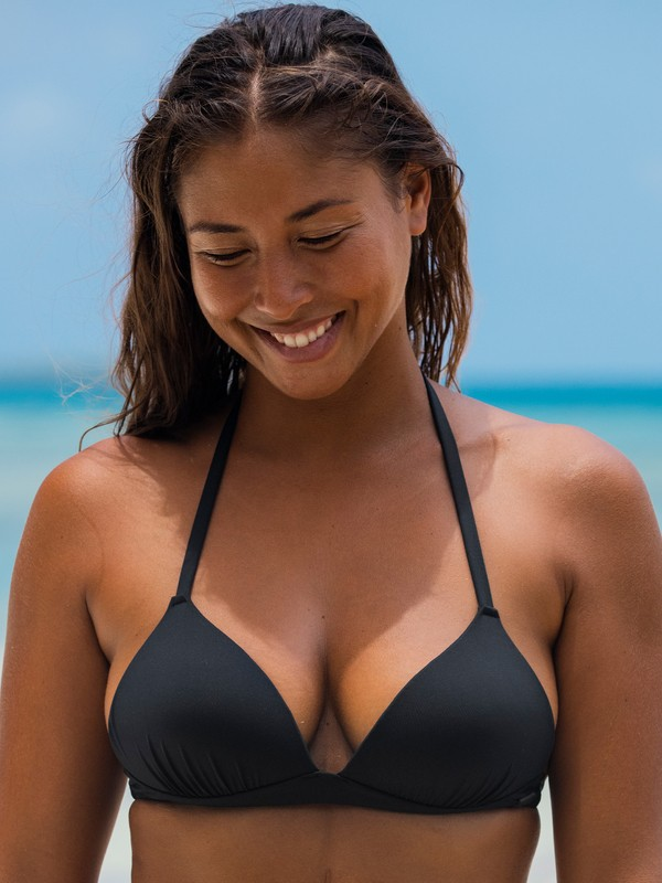 Beach Classics - Moulded Tri Bikini Top for Women  ERJX303951