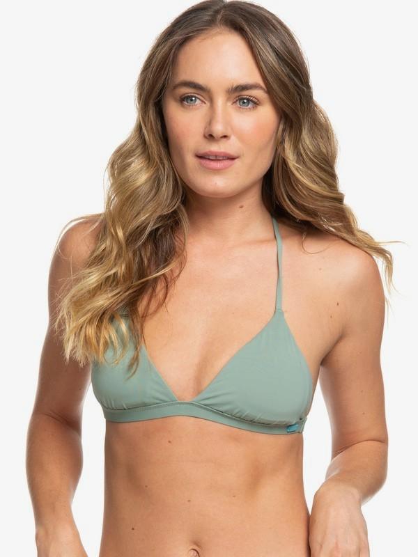 0 Beach Classics T-Back Bikini Top Green ERJX304057 Roxy